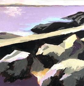 "Marion Schneider, Manor Park #2, Acrylic, 12""x12"",$900"