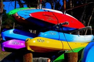 """David Greene, Summer Kayaks, Photo on aluminum, 36""""x24"""", $725"""