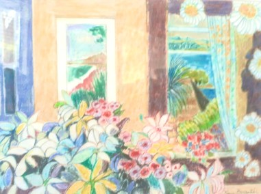 """Vivian Bergenthal, By the Window, Mixed Media, 14""""x20"""", $695"""