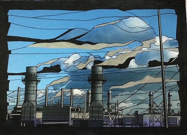 """Inge Pape Trampler, #829, Ink on paper, 5""""x7"""", $150"""
