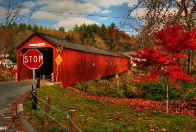 """David Greene, Autumn Bridge, Photograph, 50""""x30"""", $775"""