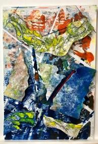 "Jackie Lorieo,The Aerialists, Monotype, 22""x15"", $490"