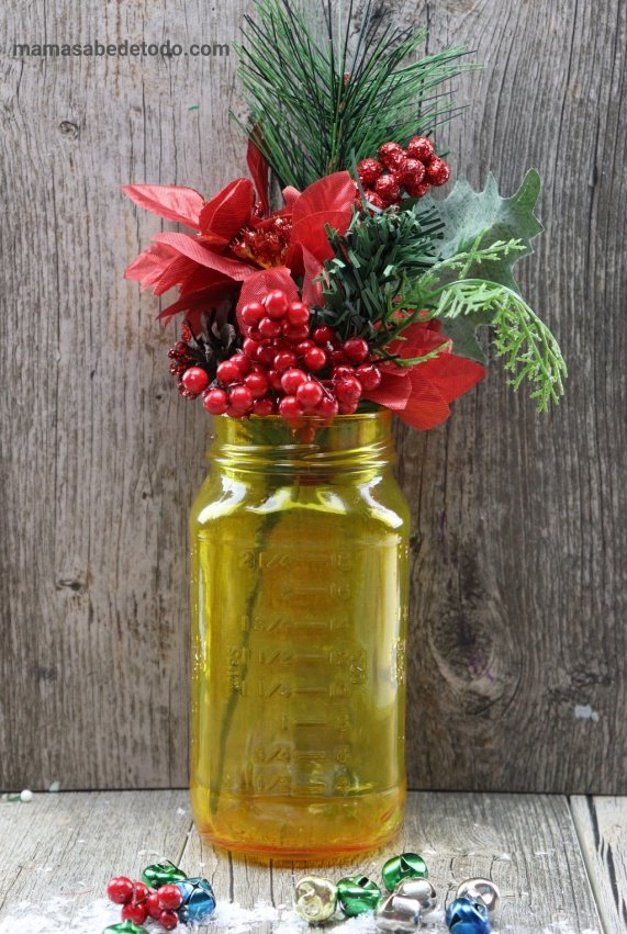 Manualidades para Navidad con Frascos de Vidrio.