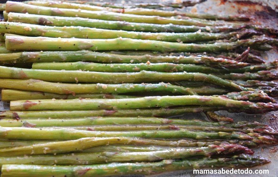 Espárragos verdes al horno