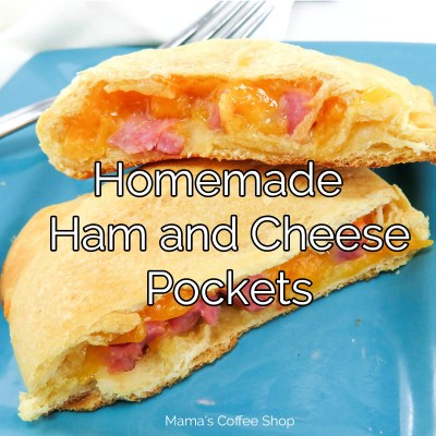 Easy Homemade Ham and Cheese Pockets {Knock-Off Recipe for Hot Pockets}
