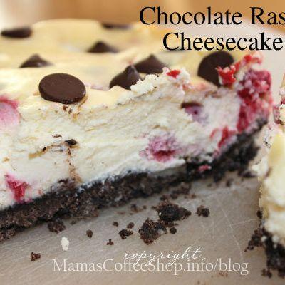 Chocolate Raspberry Cheesecake Bars {Recipe}