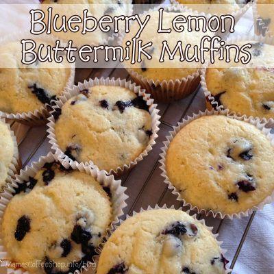 Blueberry Lemon Buttermilk Muffins {Recipe}