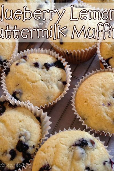 Mama's Coffee Shop - Blueberry Lemon Buttermilk Muffins - Recipe