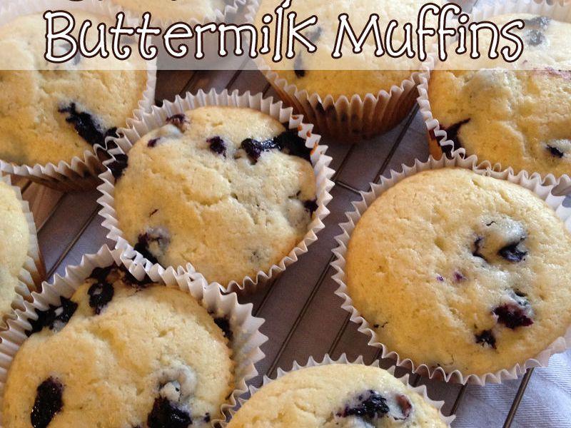 Mama's Coffee Shop - Blueberry Lemon Buttermilk Muffins - Recipe