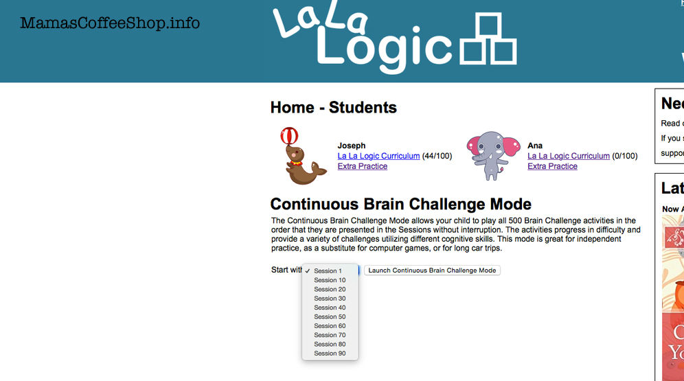 MamasCoffeeShop-LaLaLogic-ContinuousModeSessions-