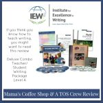 {Product Review} Deluxe Combo Teacher/Student Writing Package Level A with Fix It! Grammar 1 & 2 from Institute for Excellence in Writing (IEW)