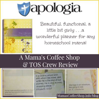 {Product Review} The Ultimate Homeschool Planner from Apologia Educational Ministries