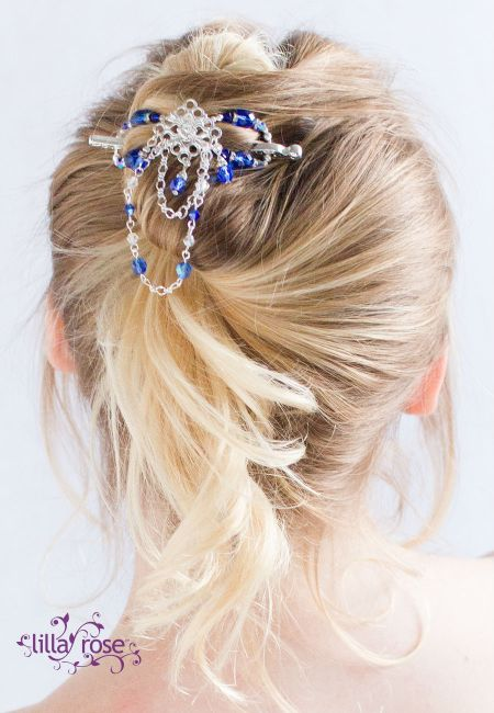Sapphire Ice hair accessories form Lilla Rose