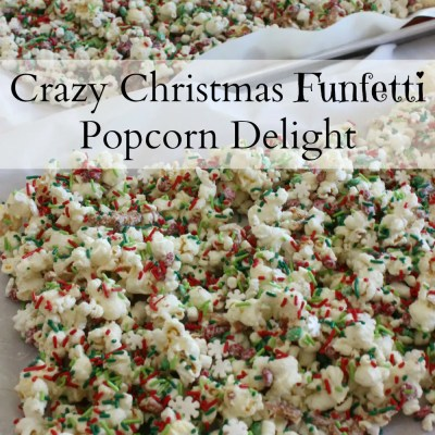 Crazy Christmas Funfetti Popcorn Delight {Recipe}
