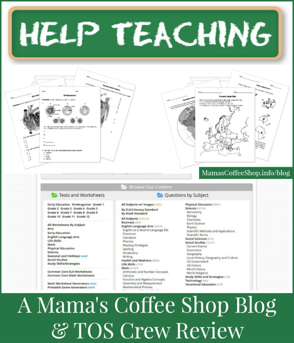 Mama's Coffee Shop Blog - HelpTeaching