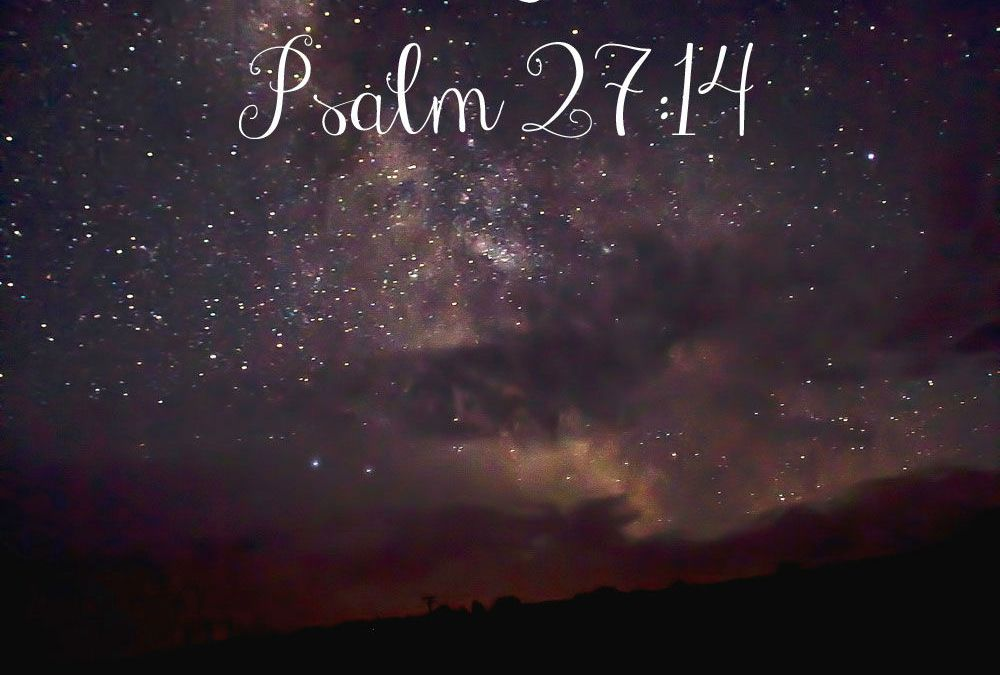 Midnights with Jesus {Psalm 27:14} & LinkUp