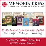 {Product Review} Memoria Press and Ninth Grade Literature Guide Set