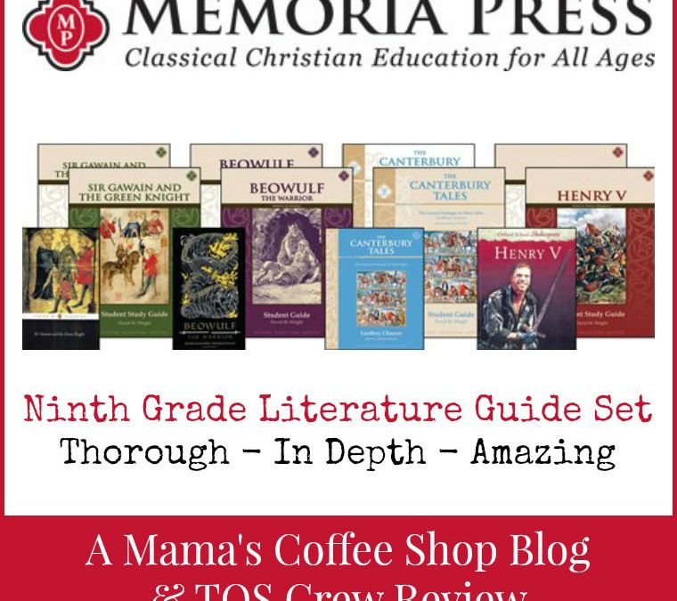 {Product Review} Memoria Press and Ninth Grade Literature Guide Set