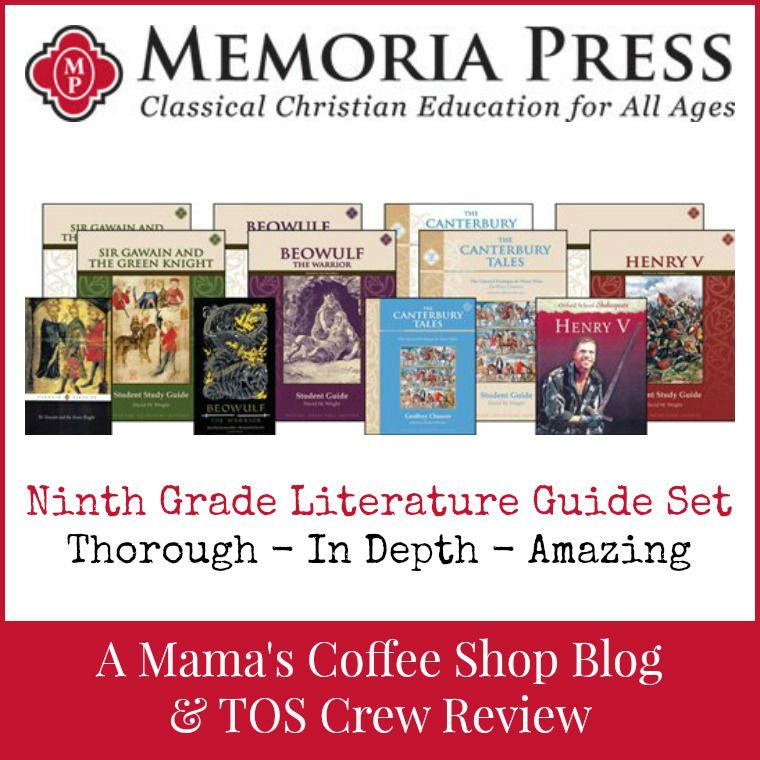 Mama's Coffee Shop Blog - Memoria Press - 9th Grade Literature Set
