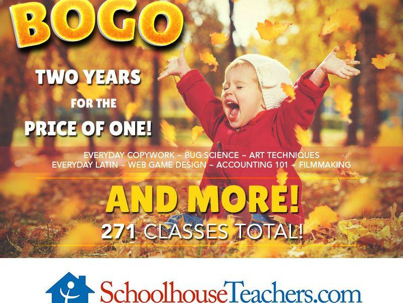 SchoolhouseTeachers.com BOGO sale