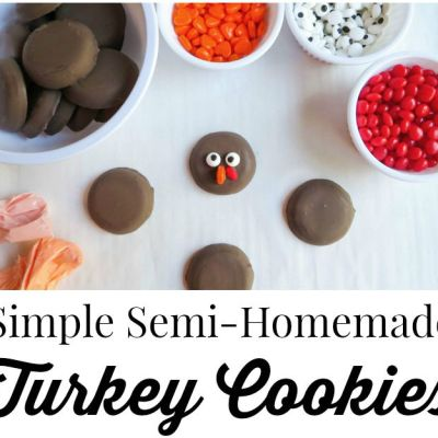 Simple Semi-Homemade Turkey Cookies {Recipe}
