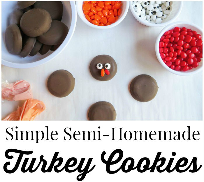 Simple Semi-Homemade Turkey Cookies {Recipe}