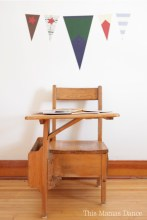antiquedeskwithflags