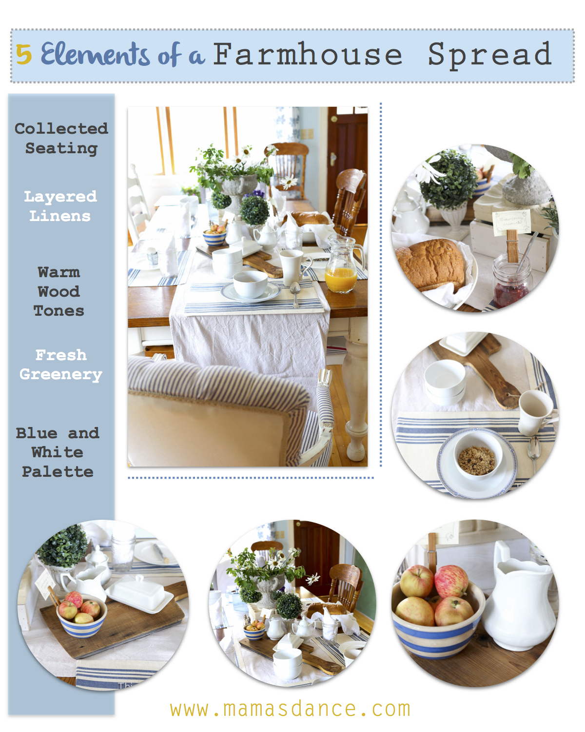 5 Elements of a Farmhouse Table Setting - This Mamas Dance