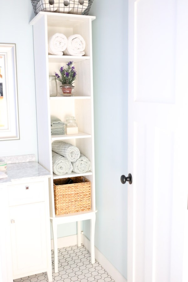 DIY bathroom Cabinet for under $40| This Mamas Dance