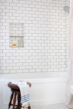 White Subway Tile Gray grout-1