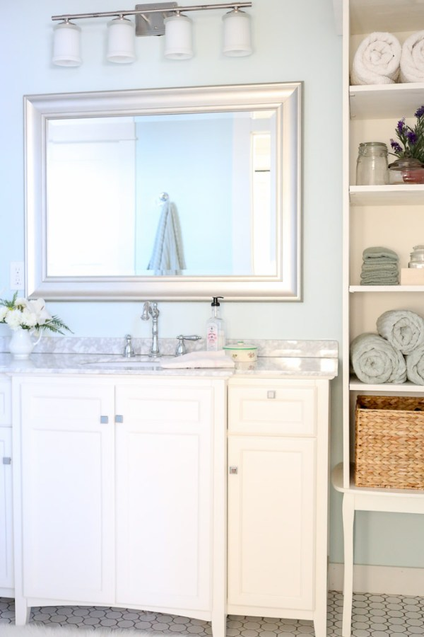 DIY Cottage Style Bathroom for a family of five| This Mamas Dance