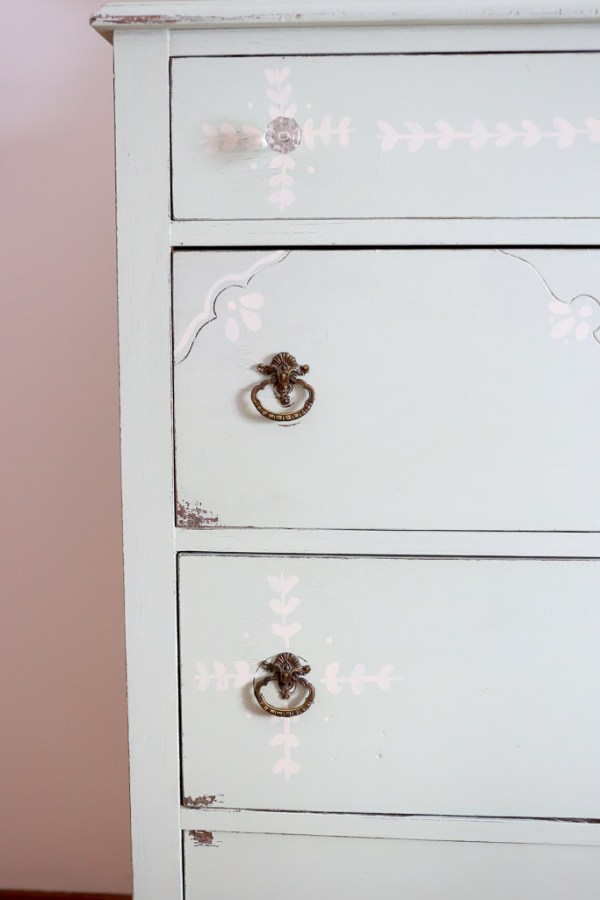 Drawer Detail with glass knob-6