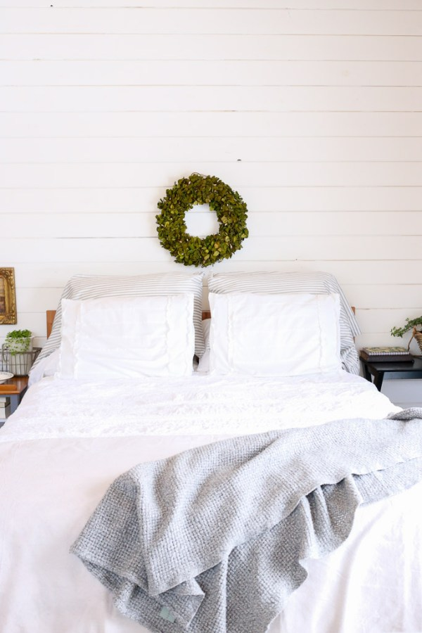 Layered White Bedding with grey 2