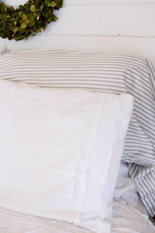 Ruffled Pillow Detail