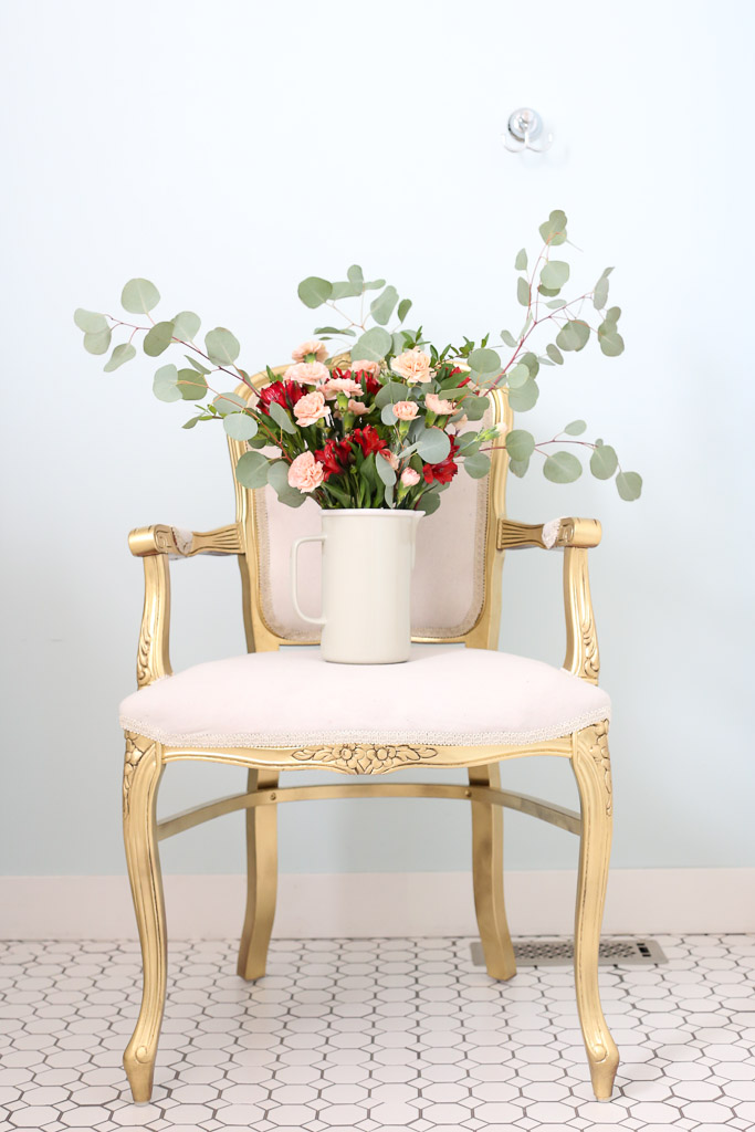 Gold French Chair, Blush Florals | This Mamas Dance 2