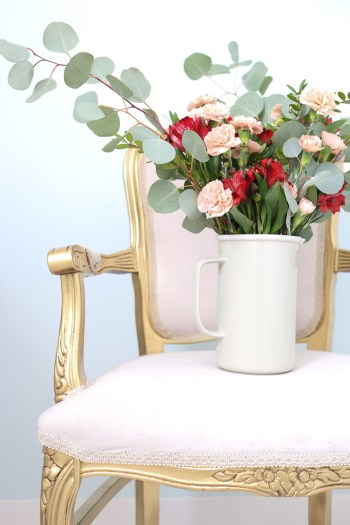Gold French Chair, blush florals | This Mamas Dance-4