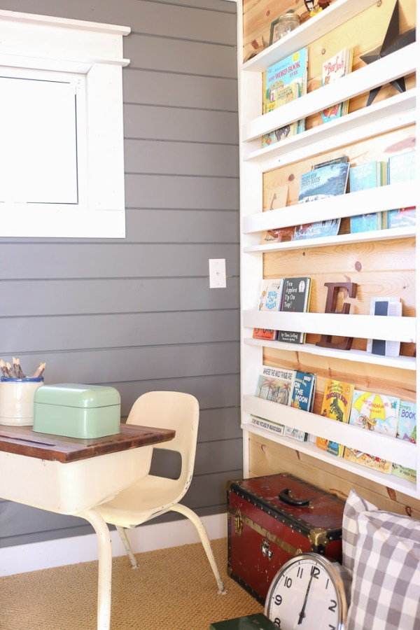 Reading Corner, Desk, Bookshelf, Planked Walls| Mamas Dance-10