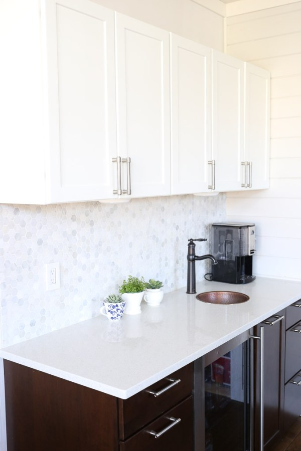 White Upper Cabinets, Dark Wood Lower Cabinets|This Mamas Dance-3