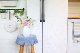 How to Wall Paper A Fridge| This Mamas Dance-2