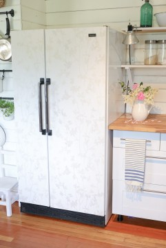 Neutral Wall papered Fridge| This Mamas Dance-1
