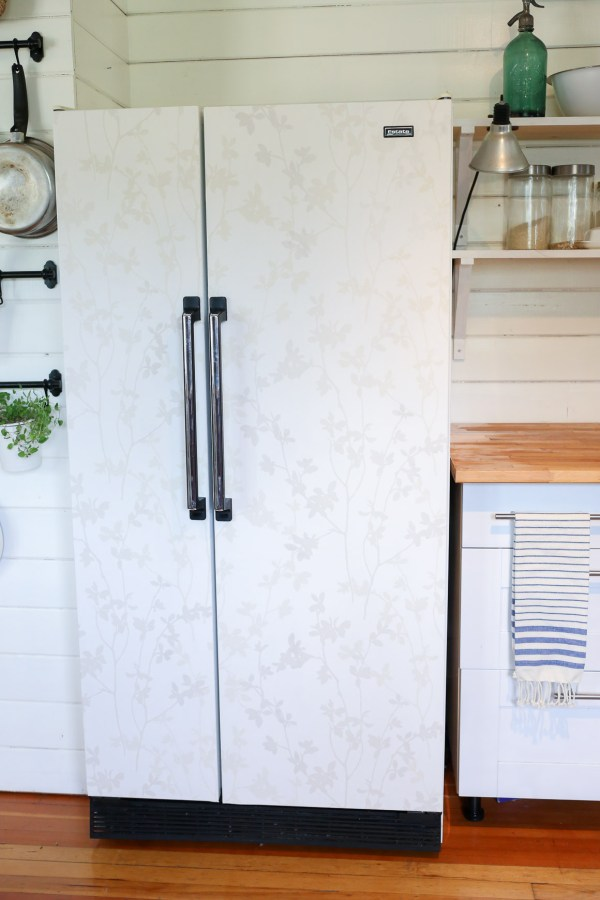 Wall papered Fridge| This Mamas Dance-3