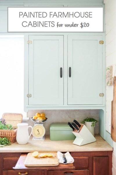 Kitchen Cabinet Makeover for under $20
