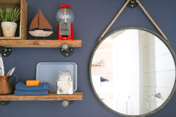 Industrial Pipe Shelving Tutorial | via Ashlea of This Mamas Dance