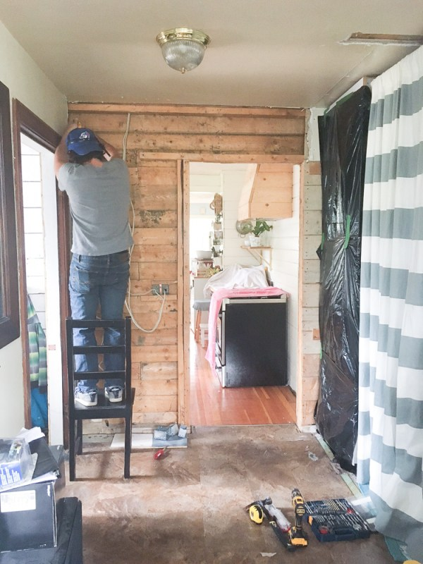 cottage entryway progress | via Ashlea of This Mamas Dance