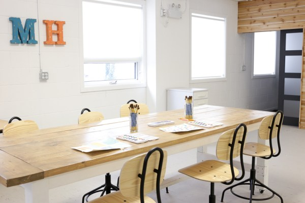 Maker House Studio | Light and Bright Co-working Office and Maker Studio via Ashlea of This Mamas Dance