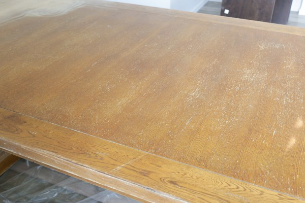 Refinishing a table with MMS Hemp Oil | via Ashlea of This Mamas Dance