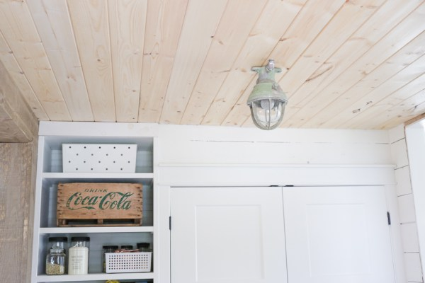 Simply White Trim and Pine Ceiling | via Ashlea of This Mamas Dance