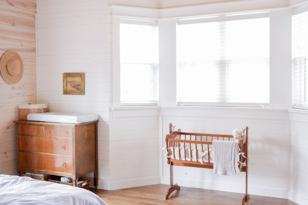 Shared Neutral Nursery in the Master Bedroom | via Ashlea of This Mamas Dance
