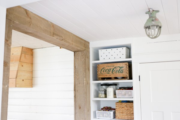 How to Create a Framed Wood Beam Doorway | via Ashlea of This Mamas Dance