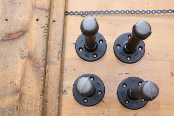 Industrial Pipe Shelf Brackets | via Ashlea of This Mamas Dance